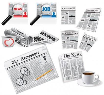 Newspapers vector