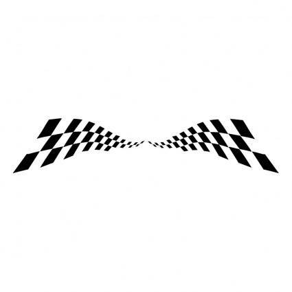 free vector Checkered wave