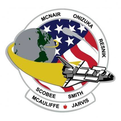free vector Challenger mission patch