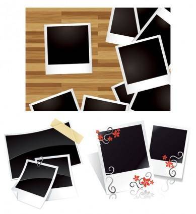 Blank photo paper vector