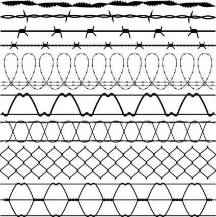 Steel mesh vector