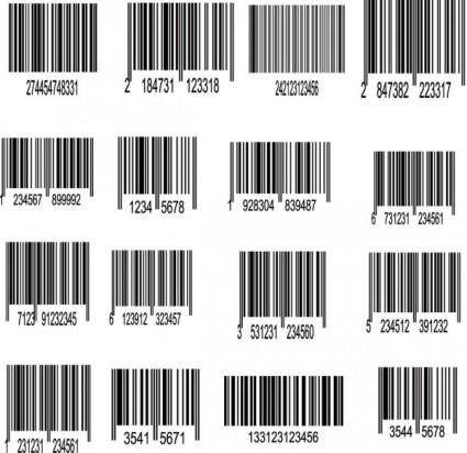 free vector Bar code label 01 vector