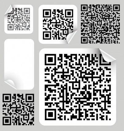free vector Bar code label 02 vector