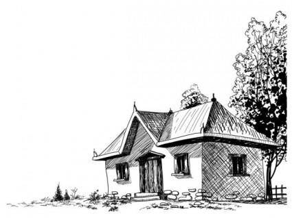 free vector House sketch vector 5