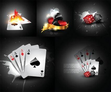 free vector Playing cards and dice vector