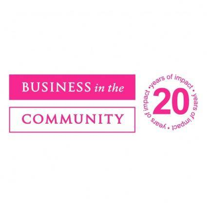 free vector Business in the community