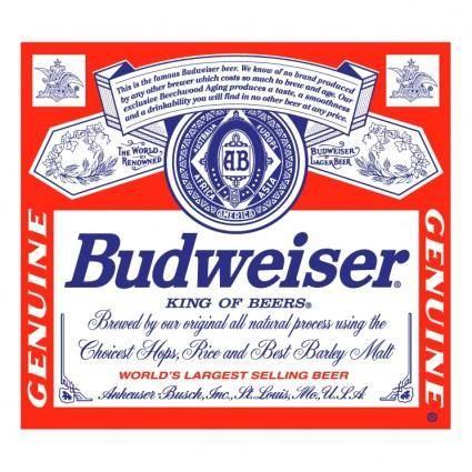 free vector Budweiser 12