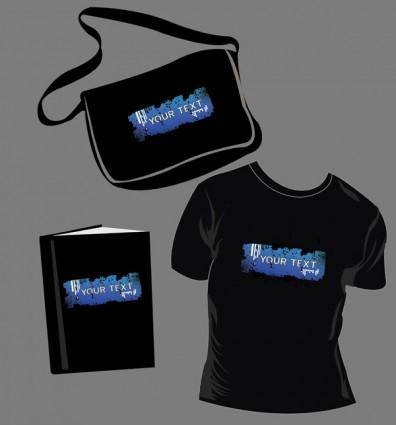 Tshirt bags book vector