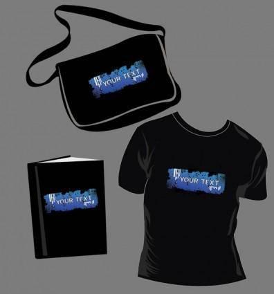 free vector Tshirt bags book vector