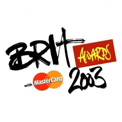 free vector Brit awards 2003