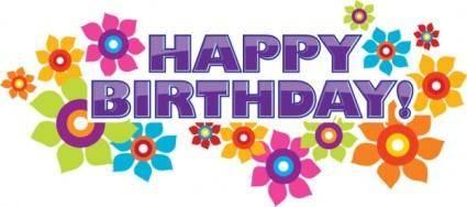 Happy birthday elements 04 vector