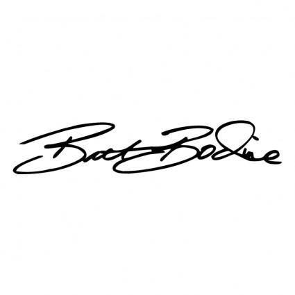 free vector Brett bodine signature
