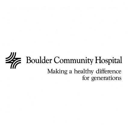free vector Boulder community hospital