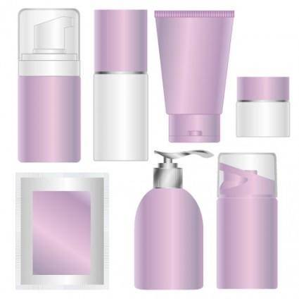 free vector Blank skin care products cosmetics packaging vector