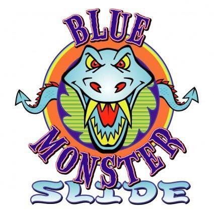 Blue monster slide