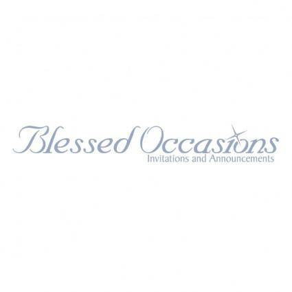 Blessed occasions
