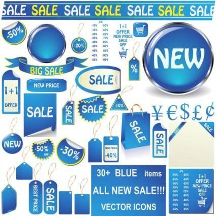 Blue label 02 vector