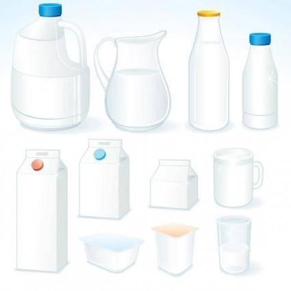 free vector Milk theme vector 1