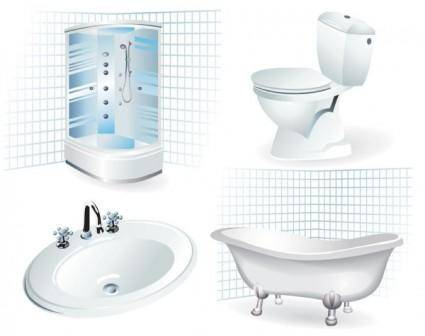 free vector Bathroom supplies 01 vector