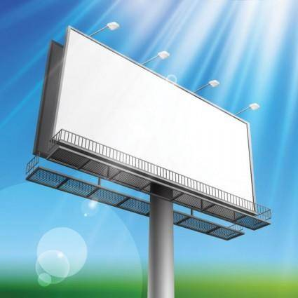 Outdoor advertising billboard model 04 vector