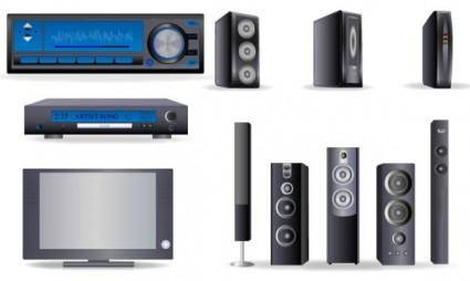 free vector Home theater vector
