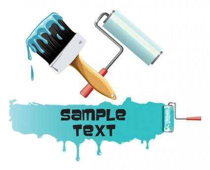 Painting paint brushes vector