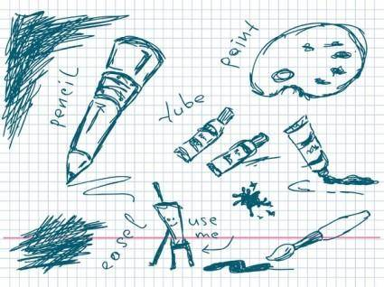 free vector Hand tools for vector drawing