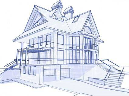 free vector Architectural series vector 5