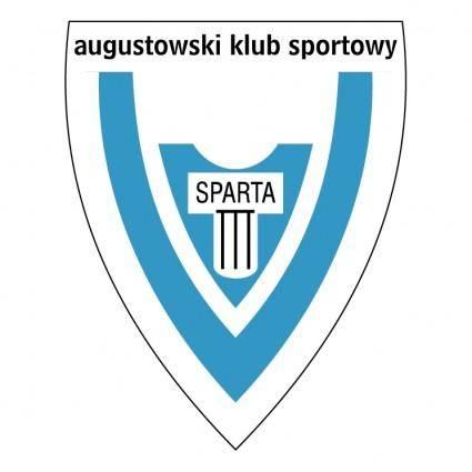 free vector Augustowski klub sportowy sparta