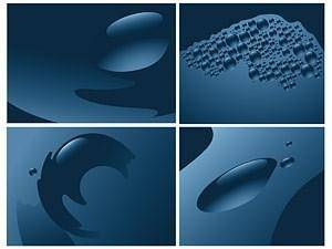 free vector Vector blue drops