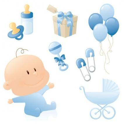 free vector Cute baby theme vector