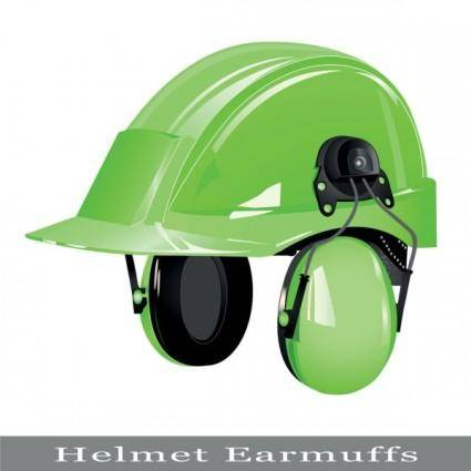 Color helmet 03 vector