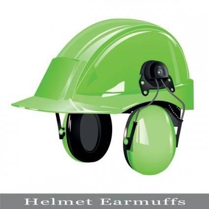 Color helmet 03 vector