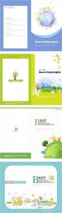 free vector Beautiful brochure 02 vector
