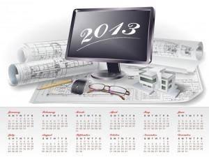 Creative Calendar 2013 design vector 5
