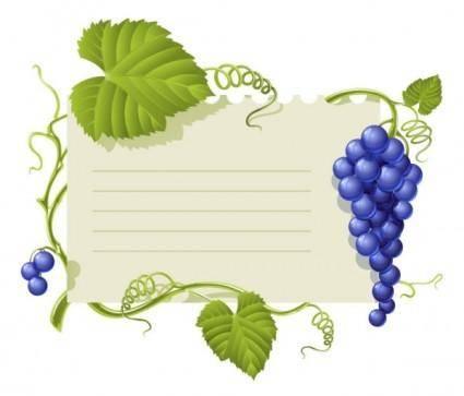 Purple grape theme bulletin board vector