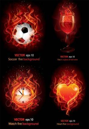free vector Flame ignition vector