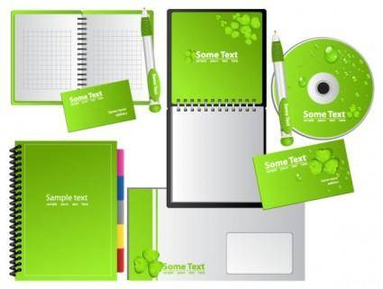 free vector Green notebook vector