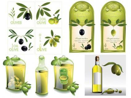 free vector Vector olive oil