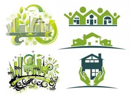 free vector Vector green house