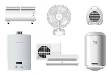 Household appliances 01 vector