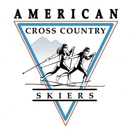 free vector American cross country skiers