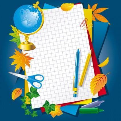 Learn stationery 02 vector