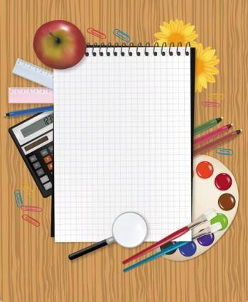 free vector Study stationery 03 vector