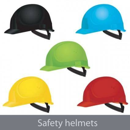 Color helmet 01 vector