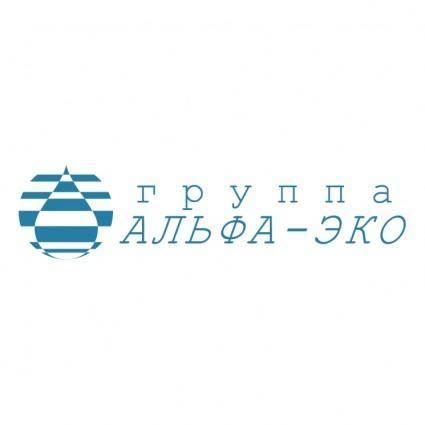 free vector Alpha eco group