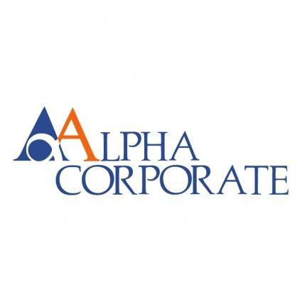 free vector Alpha corporate