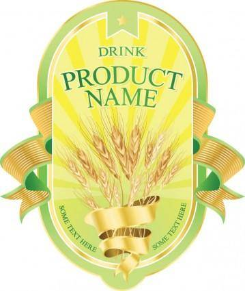 free vector Product label design 04 vector