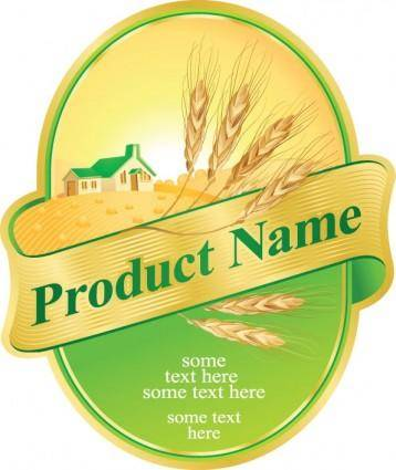 Product label design 05 vector