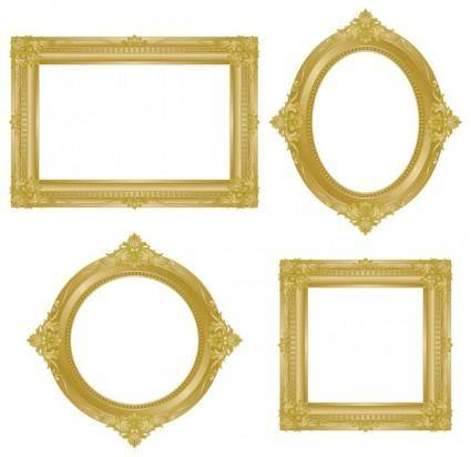 free vector Antique gold frame 02 vector